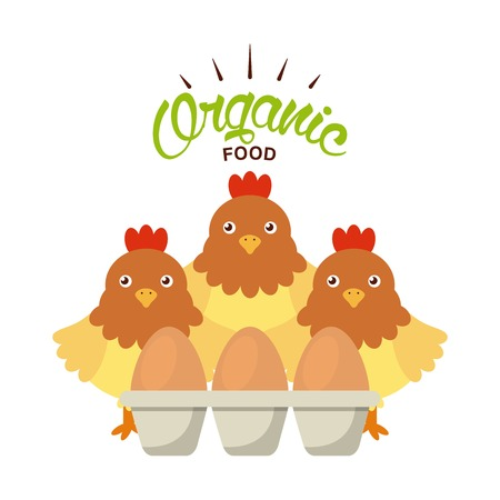 organic food design, vector illustration eps10 graphic Standard-Bild - 124298886