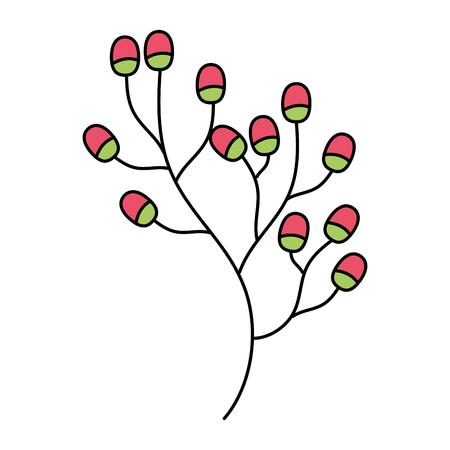 branch berries fruit on white background vector illustration Illustration
