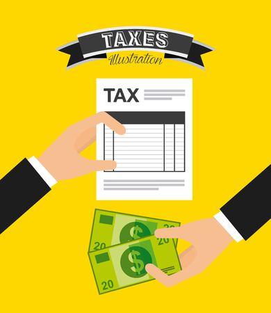 tax concept design Stock Illustratie