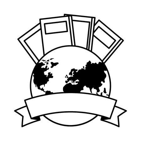 libri nastro giornata mondiale del libro illustrazione vettoriale