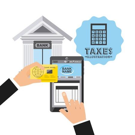 tax concept design, vector illustration eps10 graphic