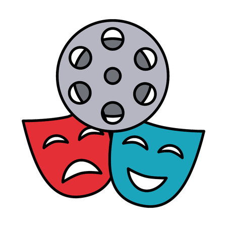 theater mask isolated icon vector illustration design Ilustrace