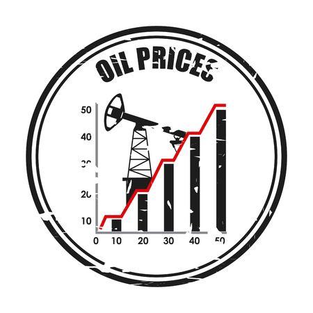progettazione dei prezzi del petrolio Vettoriali