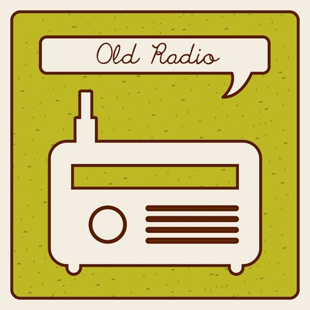 old radio design 写真素材 - 119118083