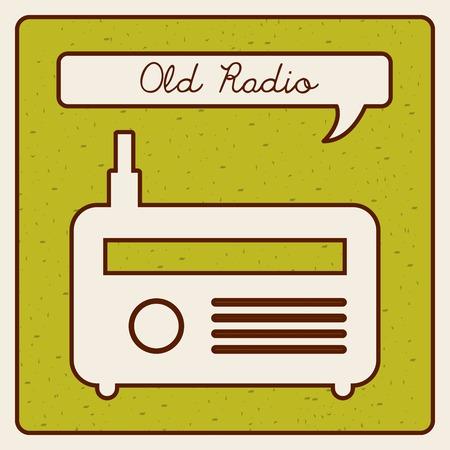 old radio design Illustration