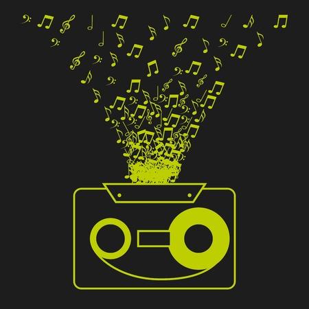 digital music design Illustration
