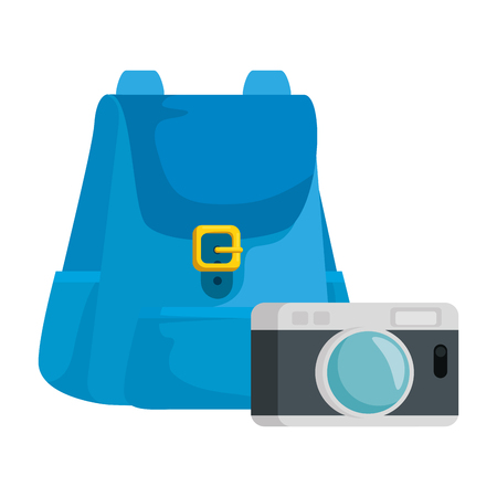 travel bag tourism with camera vector illustration design 스톡 콘텐츠 - 119117697