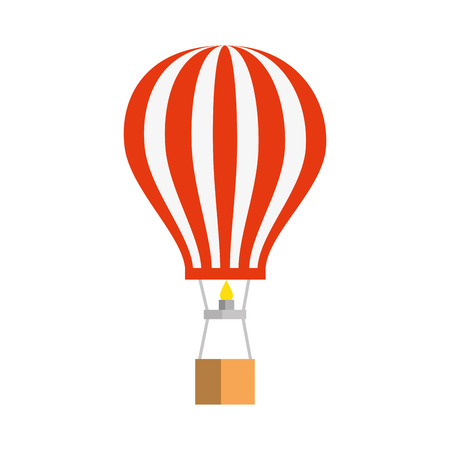 balloon air hot flying vector illustration design Foto de archivo - 124299579