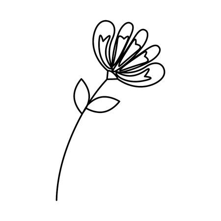 flower with leafs icon vector illustration design Archivio Fotografico - 124299587
