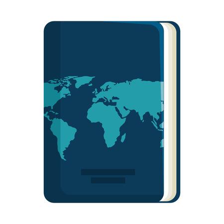 Documento de pasaporte aislado icono de ilustración vectorial de diseño Ilustración de vector