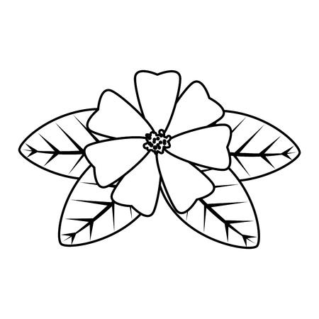 flower with leafs icon vector illustration design Archivio Fotografico - 124299613
