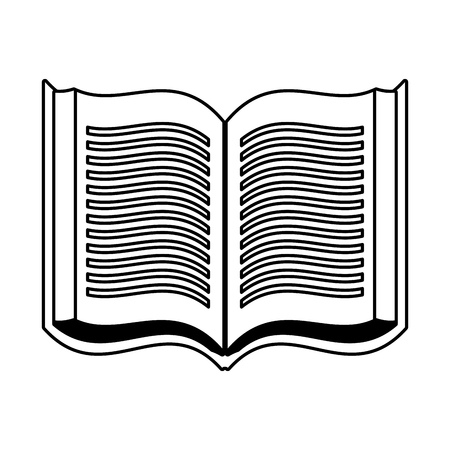 open book literature on white background vector illustration