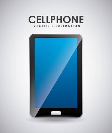cellphone icon design Illusztráció
