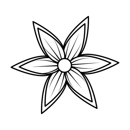 beautiful flower decorative icon vector illustration design Reklamní fotografie - 124301859