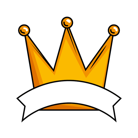 queen crown isolated icon vector illustration design Banque d'images - 119137486
