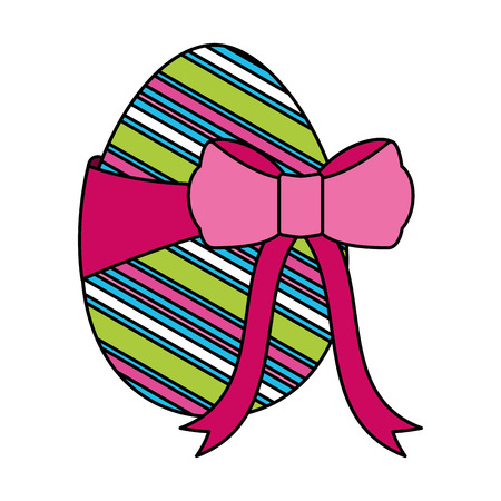 wrapped easter egg decorative ribbon vector illustration 스톡 콘텐츠 - 124301928