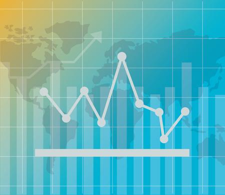 world chart financial stock market vector illustration Foto de archivo - 124301965