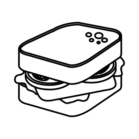 fresh sandwich food icon vector illustration design Illustration