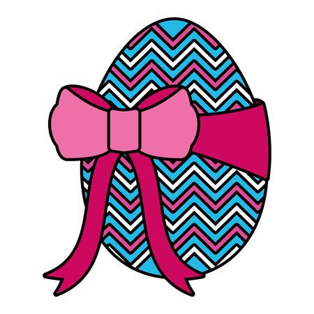 wrapped easter egg decorative ribbon vector illustration 일러스트