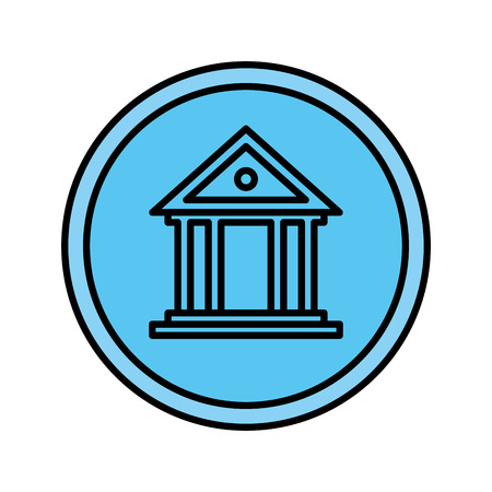 bank building isolated icon vector illustration design Reklamní fotografie - 119144186
