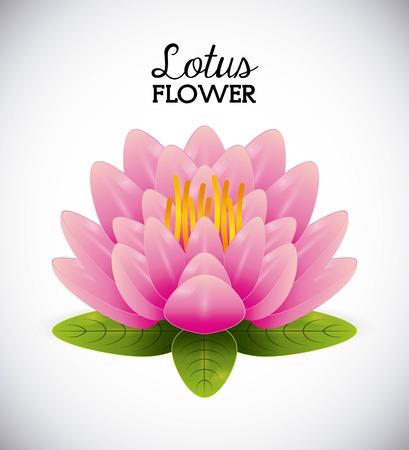lotus flower design, vector illustration eps10 graphic Illustration