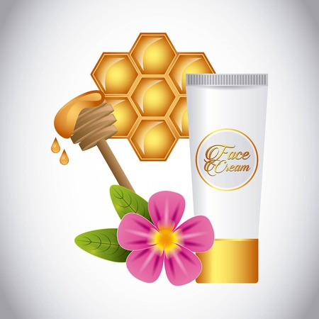 honey face cream design Stock Illustratie