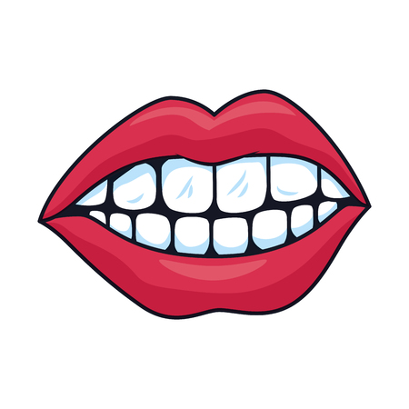 female mouth isolated icon vector illustration design Standard-Bild - 119144214