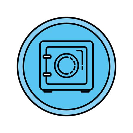 safe security box icon vector illustration design Illusztráció