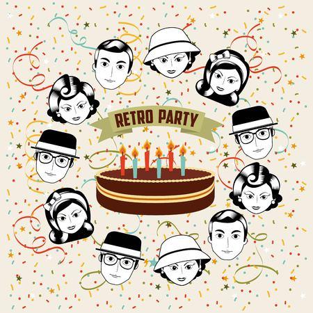 retro party design, vector illustration eps10 graphic