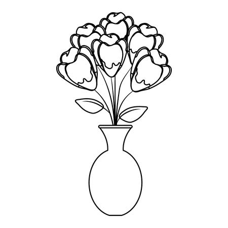 vase with roses icon vector illustration design Illustration