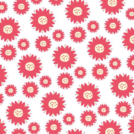 Fondo flores hojas decoración natural ilustración vectorial