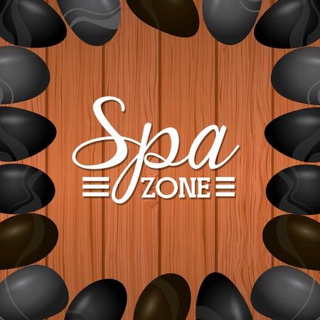 spa zone design, vector illustration eps10 graphic