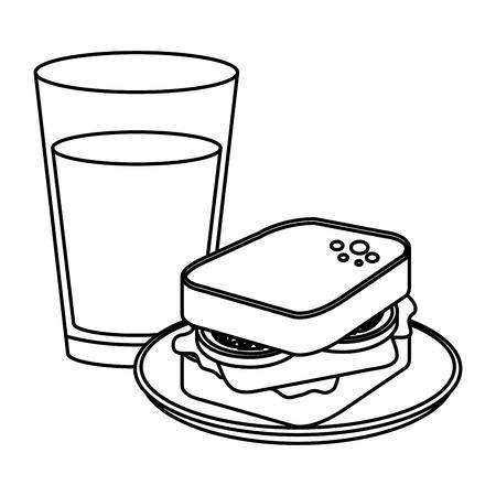 Deliciosos iconos de menú de desayuno, diseño de ilustraciones vectoriales