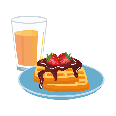 delicious breakfast menu icons vector illustration design 向量圖像