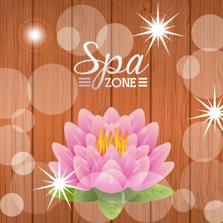 spa zone design, vector illustration