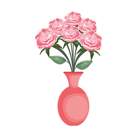 vase with roses icon vector illustration design