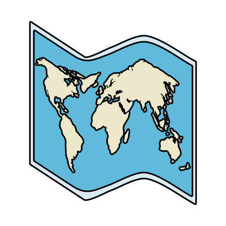paper map travel guide vector illustration design 写真素材 - 119167970