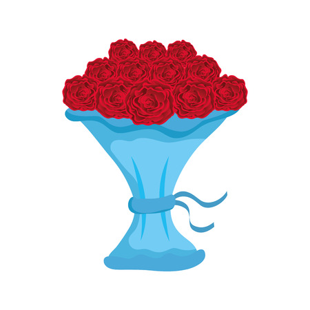 bouquet of roses icon vector illustration design