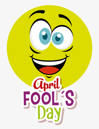 happy face expression to fools day vector illustration