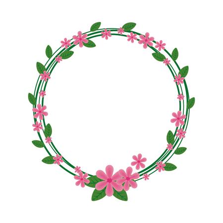 circular floral decoration icon vector illustration design Vektoros illusztráció