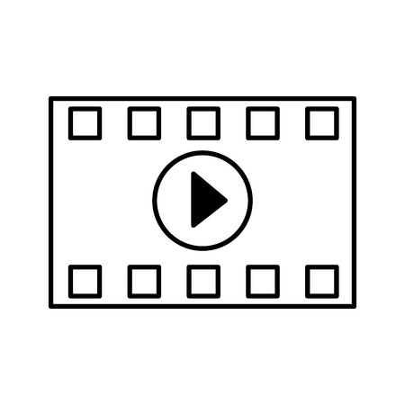 strip countdown cinema movie outline on white background vector illustration  イラスト・ベクター素材