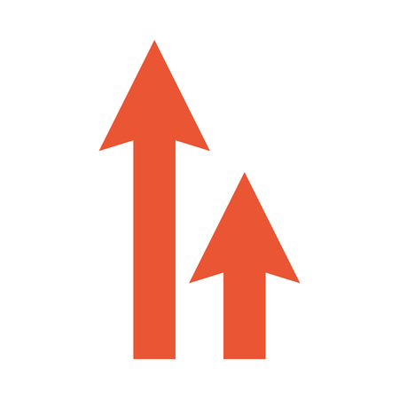 arrows up isolated icon vector illustration design