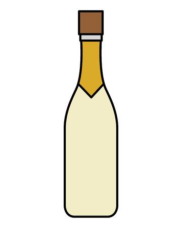 wine bottle isolated icon vector illustration design