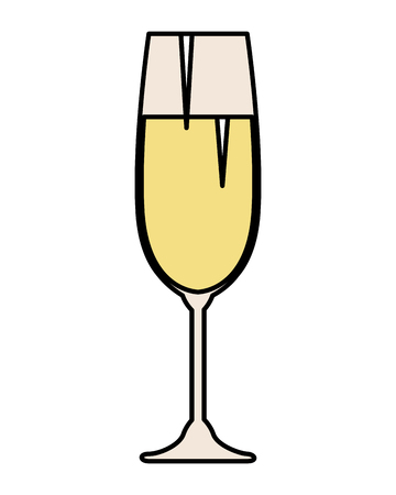 champagne cup isolated icon vector illustration design Illustration