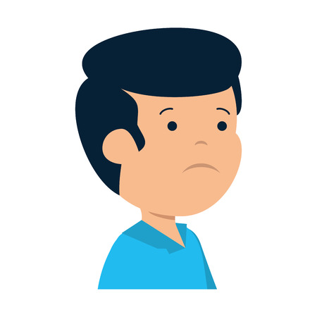 young sad man character vector illustration design Stock fotó - 119188205