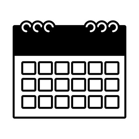 calendar reminder plan on white background