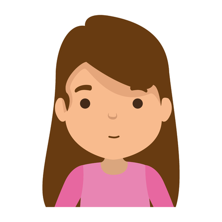 cute little girl character vector illustration design Banco de Imagens - 119178977