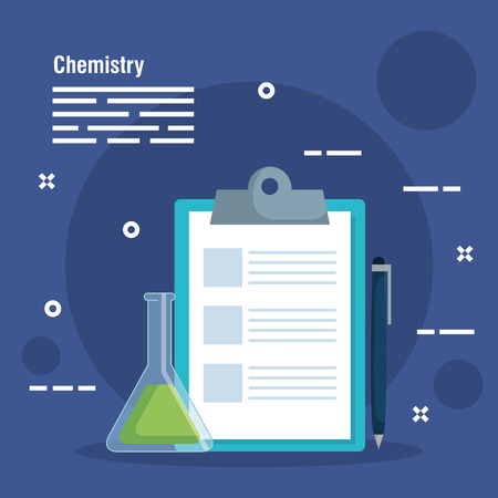 check list diagnosis with flask vector illustration Illustration