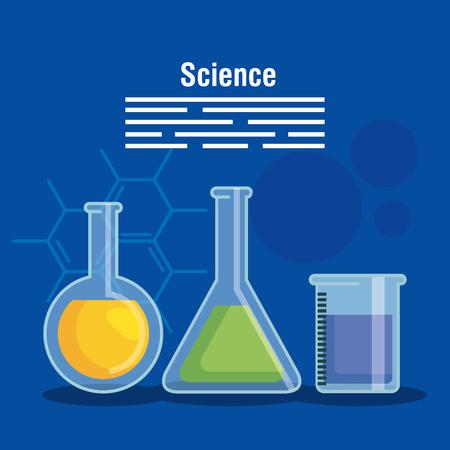 chemistry flask analysis technology vector illustration Illustration