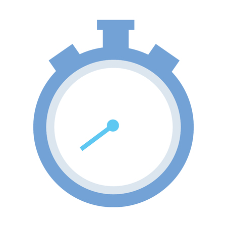 stopwatch time icon on white background
